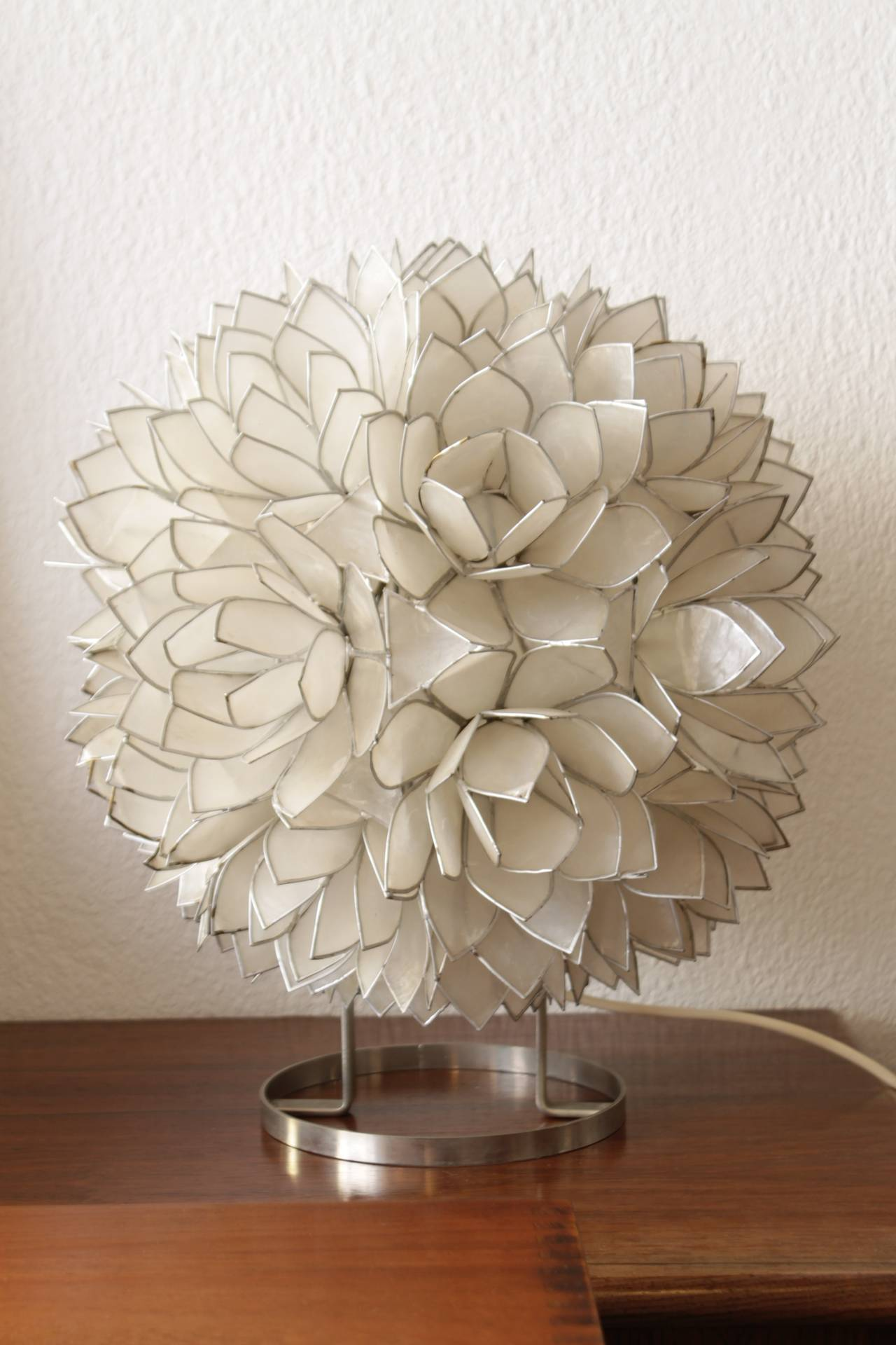 1970's Capiz shell table lamp at 1stdibs