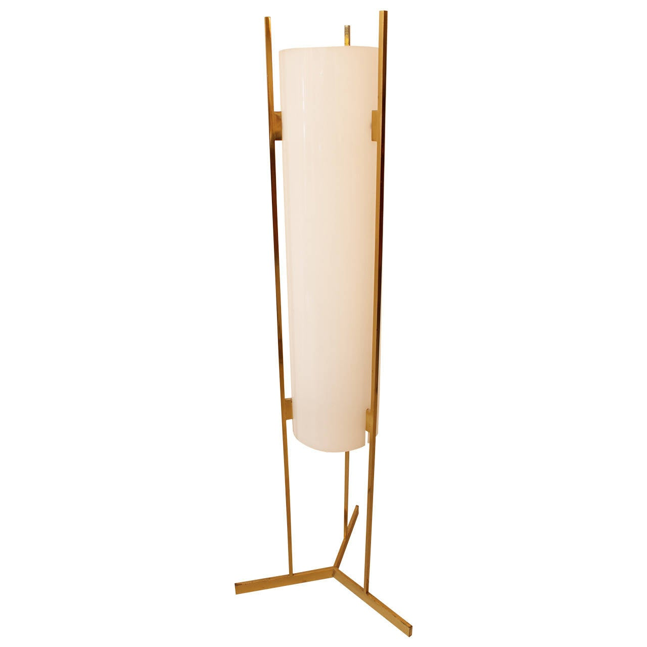 Brass and acrylic 195039s floor lamp at 1stdibs for 1950 s brass floor lamp
