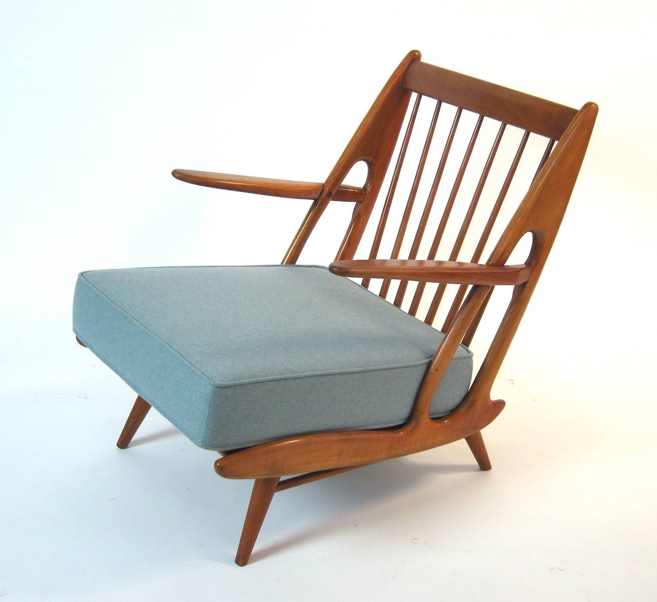 Pair Of Easy Chairs In The Style Of Carlo Mollino At 1stdibs