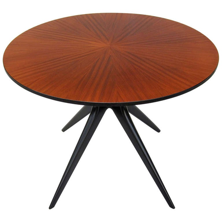 Ico Parisi Style Star Veneer Dining Table 1950s At 1stdibs