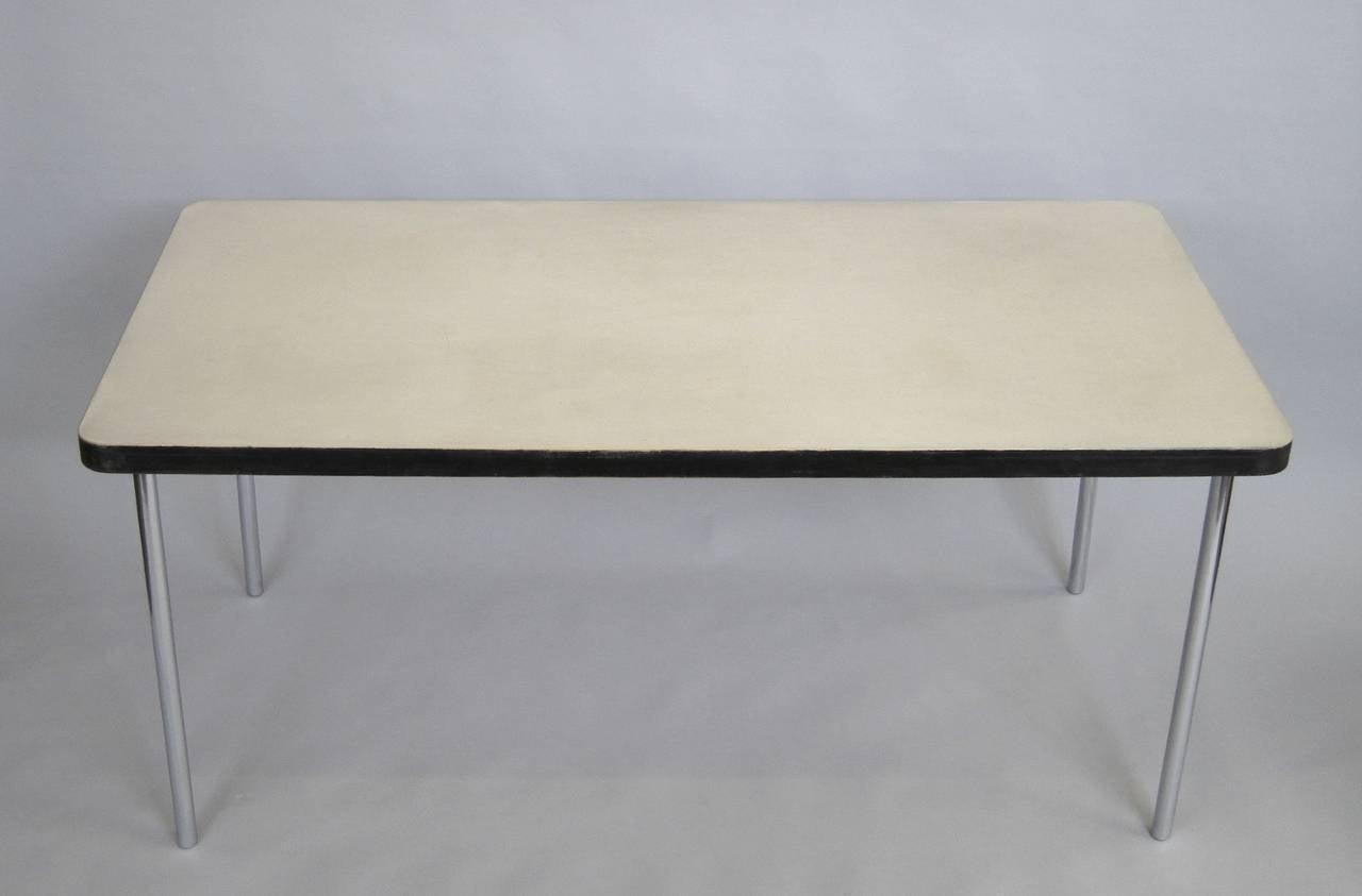 marcel breuer linoleum top work table at 1stdibs. Black Bedroom Furniture Sets. Home Design Ideas