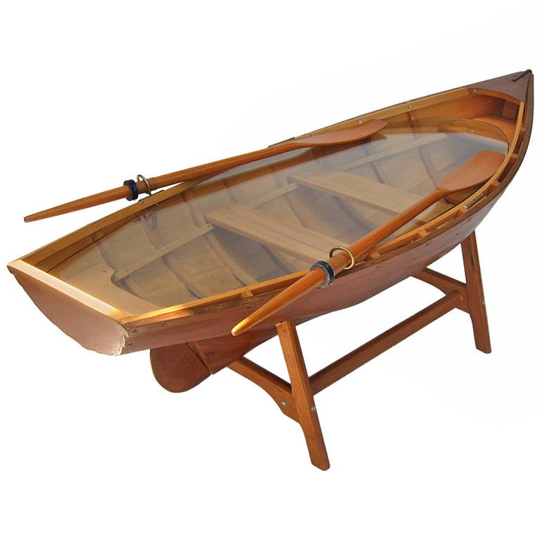 One of a kind rowboat sofa table at stdibs