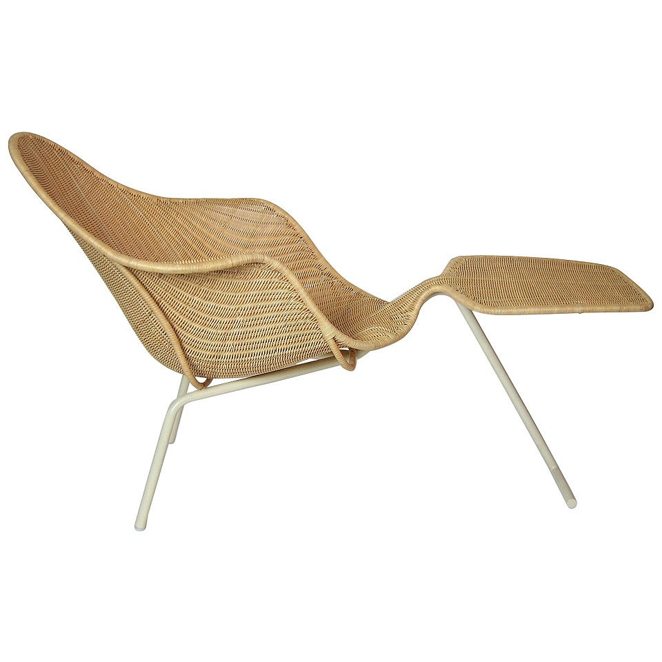 ross lovegrove apollo rattan chaise longue at 1stdibs