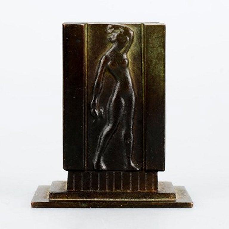Swedish Three Pieces, Bronze, 1930s, Art Deco, Gab Bronze For Sale