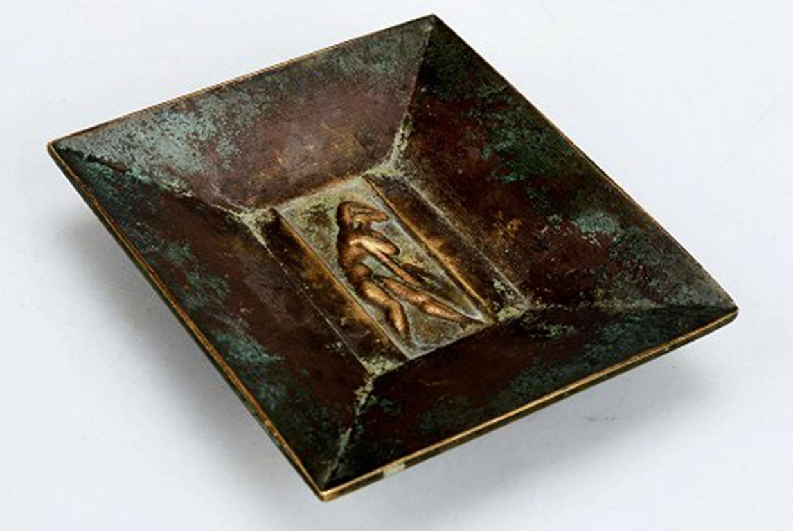 Three Pieces, Bronze, 1930s, Art Deco, Gab Bronze In Good Condition For Sale In Copenhagen, Denmark