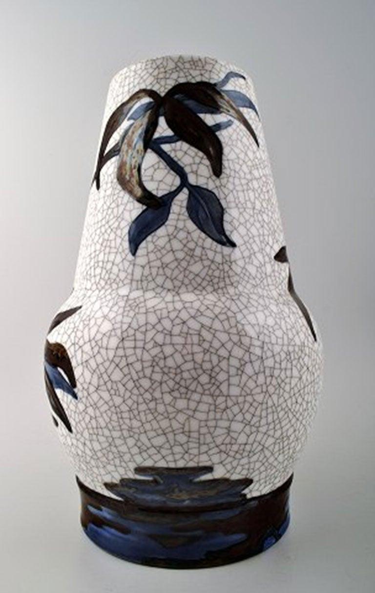 Unique Effie Hegermann-Lindencrone Vase Porcelain by Bing & Grondahl For Sale 1