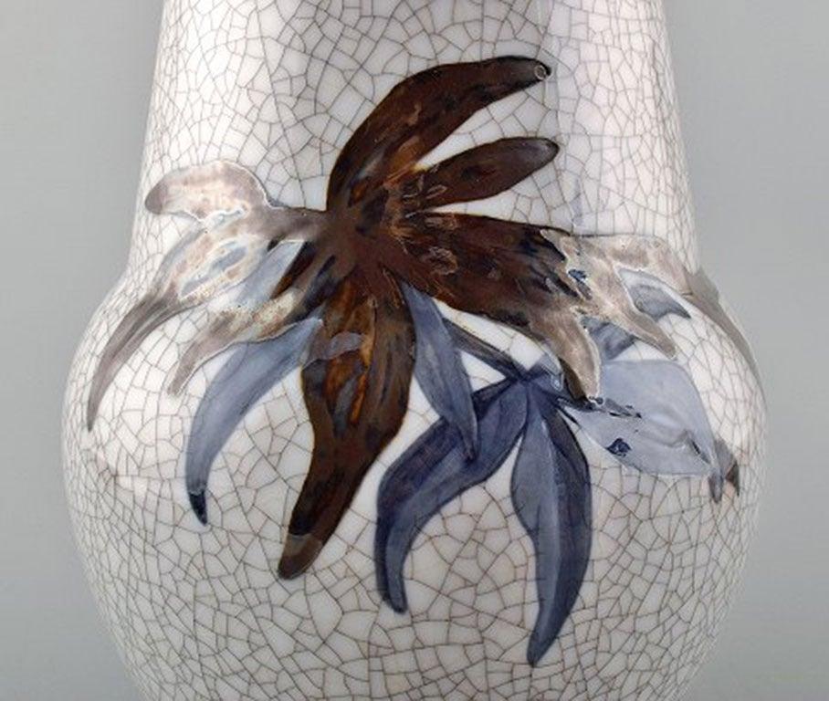 Unique Effie Hegermann-Lindencrone Vase Porcelain by Bing & Grondahl In Excellent Condition For Sale In Copenhagen, Denmark