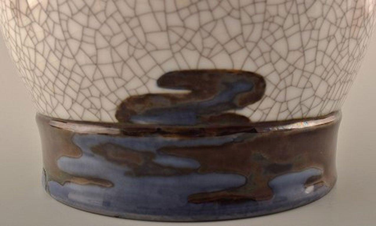20th Century Unique Effie Hegermann-Lindencrone Vase Porcelain by Bing & Grondahl For Sale