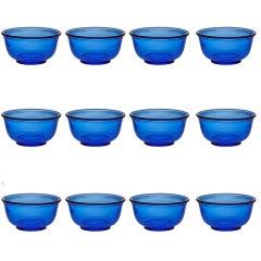 Set of 12 Blue or Green Josef Frank Seafood or Lobster Finger Bowls