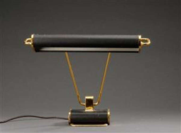 Eileen Gray Table Lamp Made Of Brass And Painted Metal