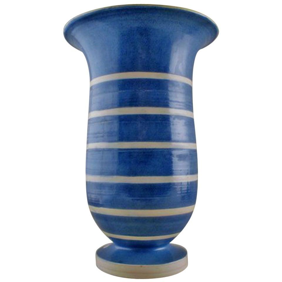 Very Large Kaehler, HAK, Glazed Stoneware Vase