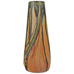 French Art Nouveau Ceramic Vase, Denbac, Number 28, Rene Denert