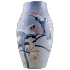 Karl Lindstrom for Rörstrand Unique Art Nouveau Vase in Porcelain