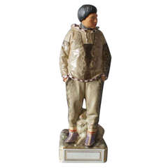 Large Royal Copenhagen Overglaze Figurine, Greenland