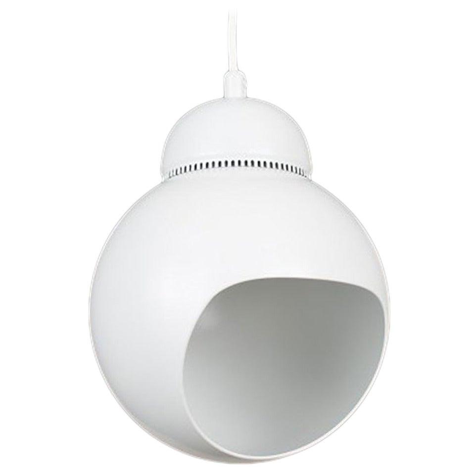 """Lamp, """"Bilberry A338"""", Alvar Aalto, Artek in White Painted Metal"""