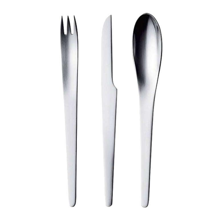 Arne jacobsen aj cutlery stainless steel at 1stdibs - Arne jacobsen flatware ...