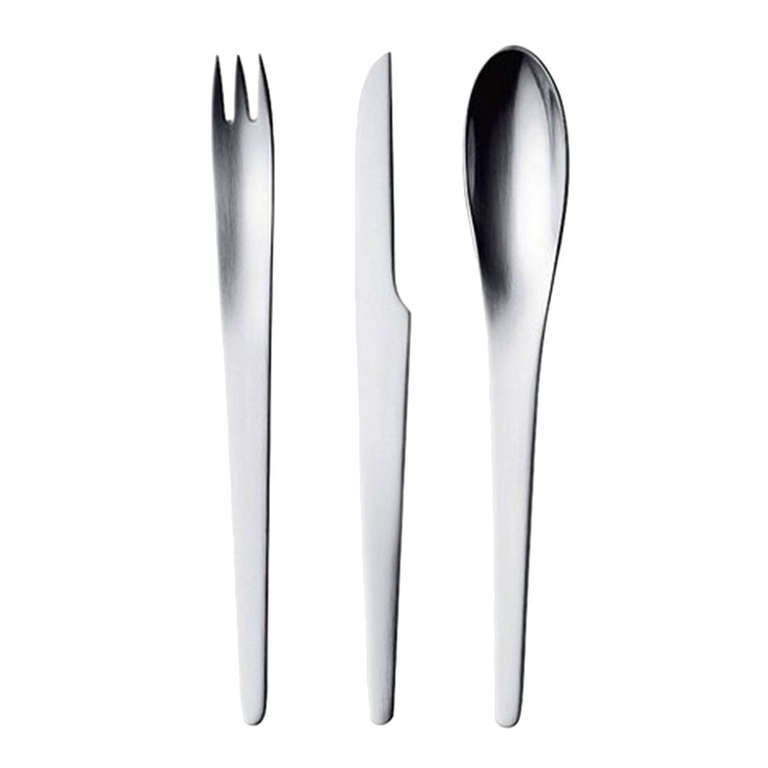 Arne jacobsen aj cutlery stainless steel for sale at 1stdibs - Arne jacobsen flatware ...