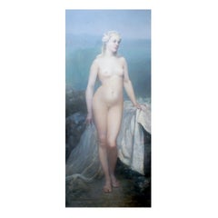 Large French Oil Painting, Indistinctly Signed, Dated 1887