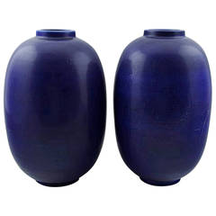 Pair of Large Rörstrand Stoneware Vases
