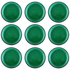Nine Dishes in Green Glass by Josef Frank