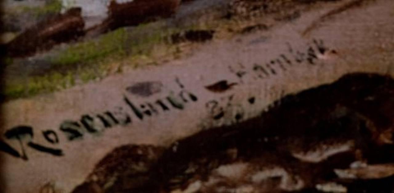 William Jacob Rosenstand, Hornbak beach, Denmark, Oil on Canvas In Good Condition For Sale In Copenhagen, Denmark