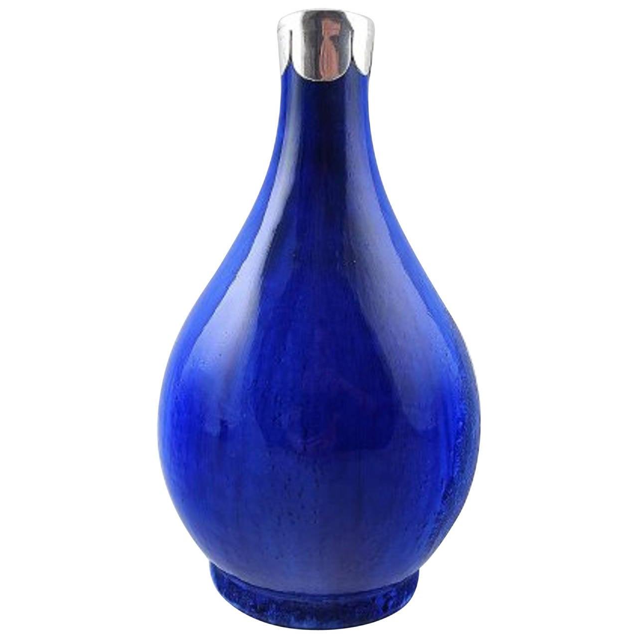 Unique soren berg for royal copenhagen crystal glaze vase with unique soren berg for royal copenhagen crystal glaze vase with silver mounts for sale reviewsmspy