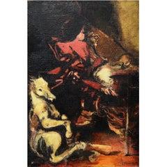 Stanislaw Masiak Polish Oil on Canvas of a Bullfighter