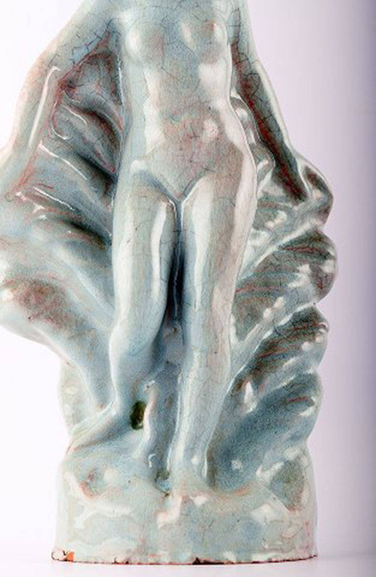 French Art Deco Pottery Figure, Naked Woman At 1Stdibs-9487