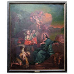 Oil on Canvas Biblical Scene, Old Master, South-German Master, circa 1780s