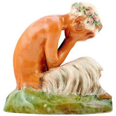 Gerhard Henning for Royal Copenhagen Porcelain Crying Faun or Pan