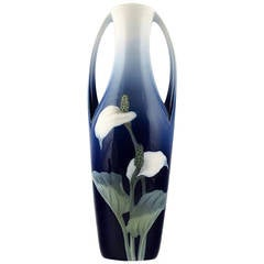 Royal Copenhagen Art Nouveau Vase, Decorated with Flowers