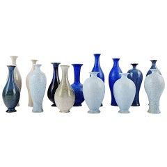 Collection of 14 Unique Miniature Ceramic Vases by Per Liljegren