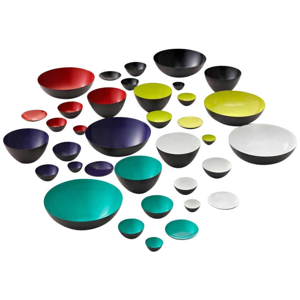 Large collection of Herbert Krenchel for Normann, Krenit bowls. 10 colours.