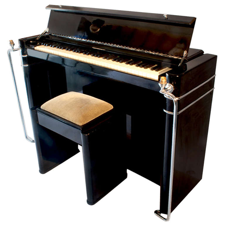 Art Deco Piano And Stool At 1stdibs