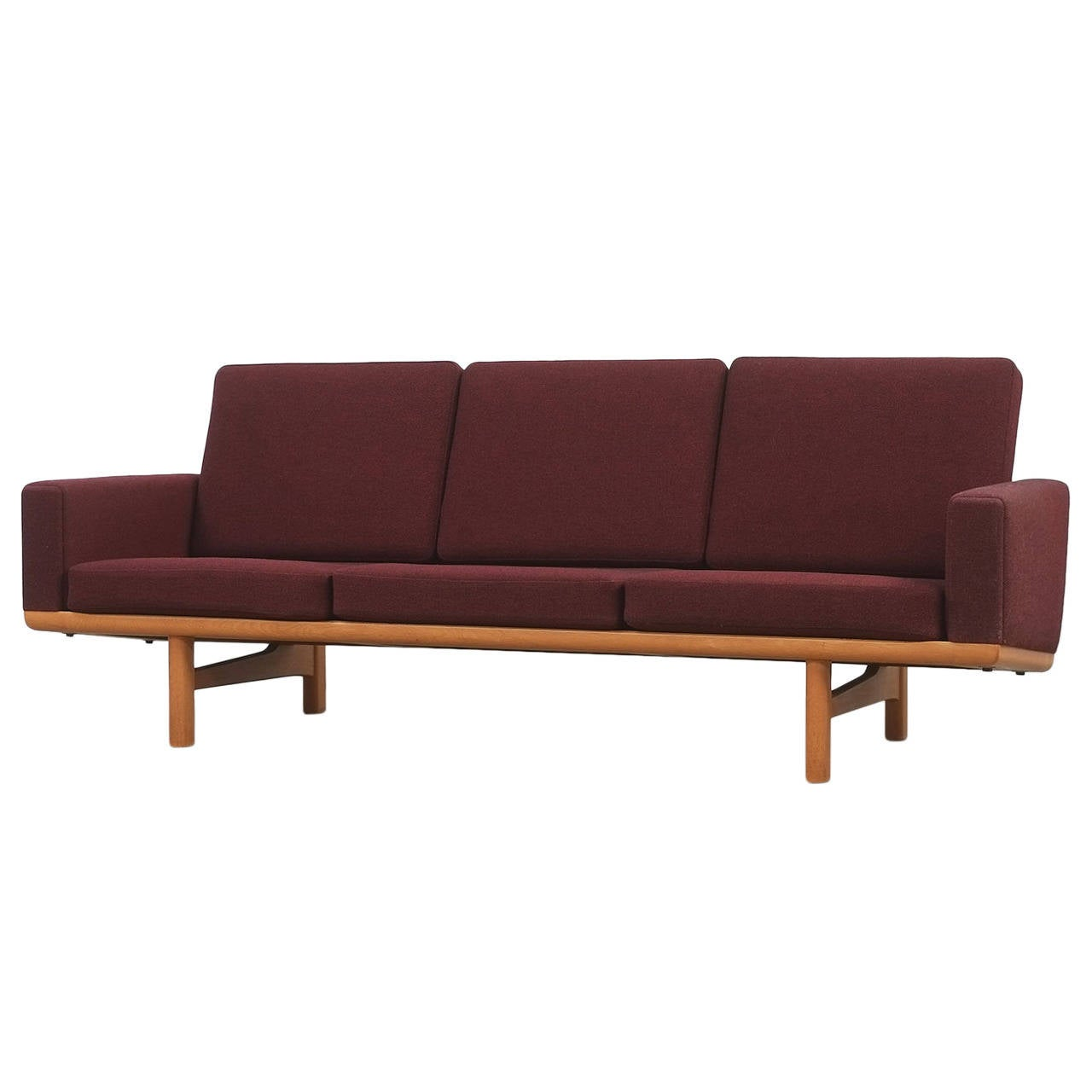 hans wegner ge236 3 sofa at 1stdibs. Black Bedroom Furniture Sets. Home Design Ideas