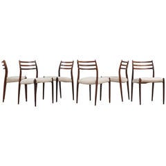 JL Moller 78 Chairs, Set of Six