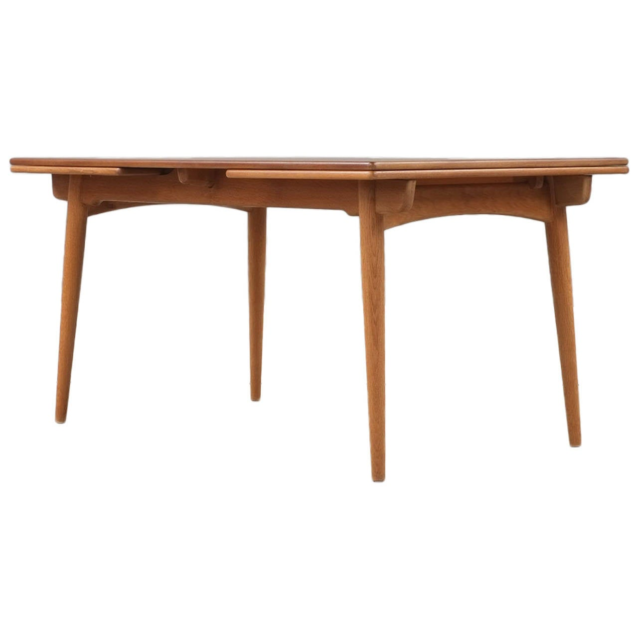 hans wegner at312 dining table at 1stdibs. Black Bedroom Furniture Sets. Home Design Ideas