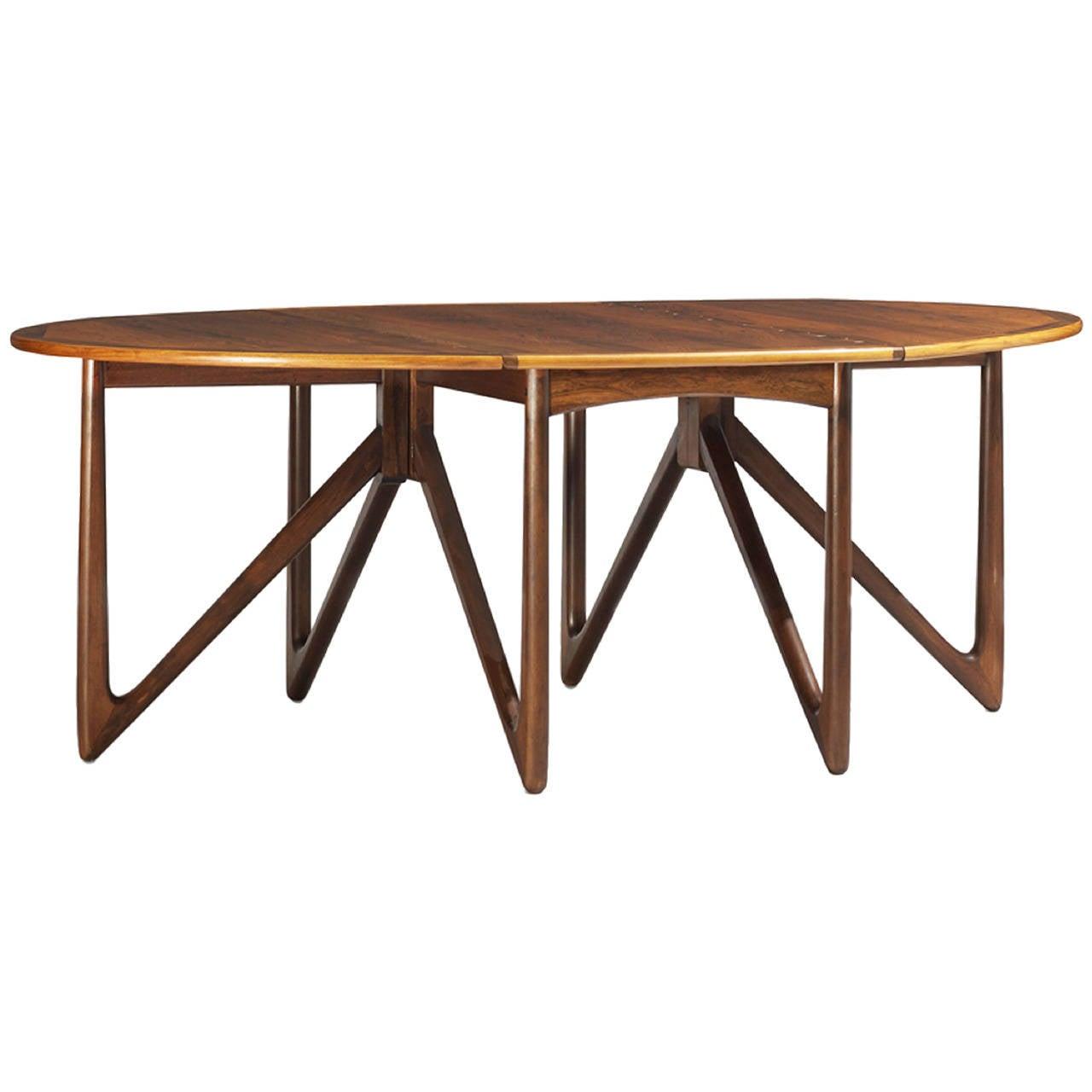 Impressive Rosewood Adjustable Dining Table Mod Drop Leaf  : 1603772l from www.1stdibs.com size 1280 x 1280 jpeg 69kB