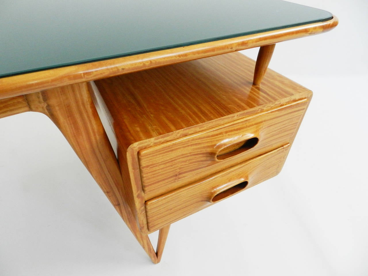 Super special small desk in lemon wood at stdibs