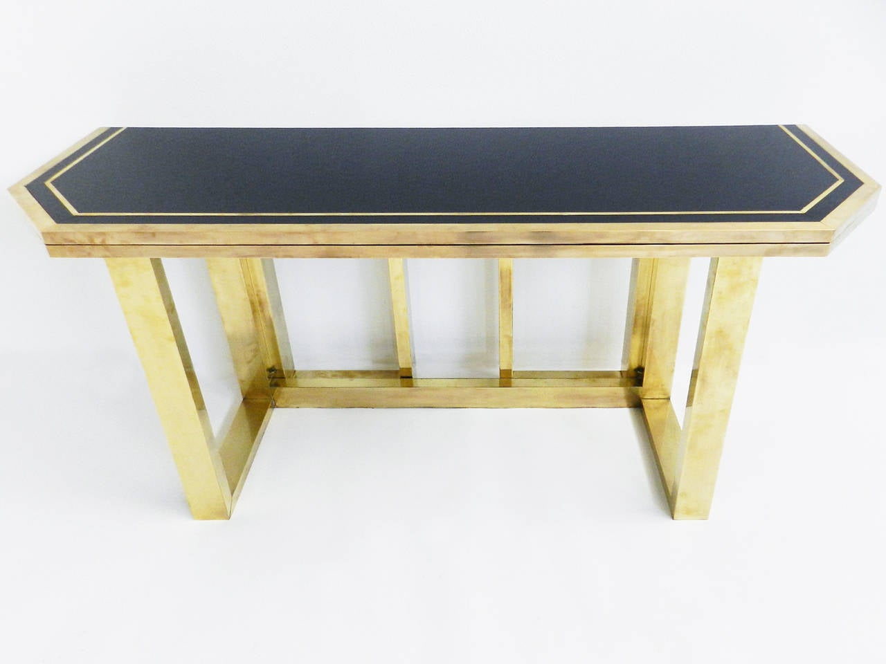 console or pliable table in the style of tommaso barbi at 1stdibs. Black Bedroom Furniture Sets. Home Design Ideas