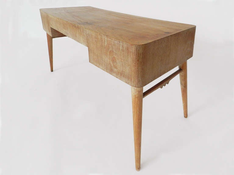 Mid-Century Modern Small Desk Attributed to Jean Royère For Sale