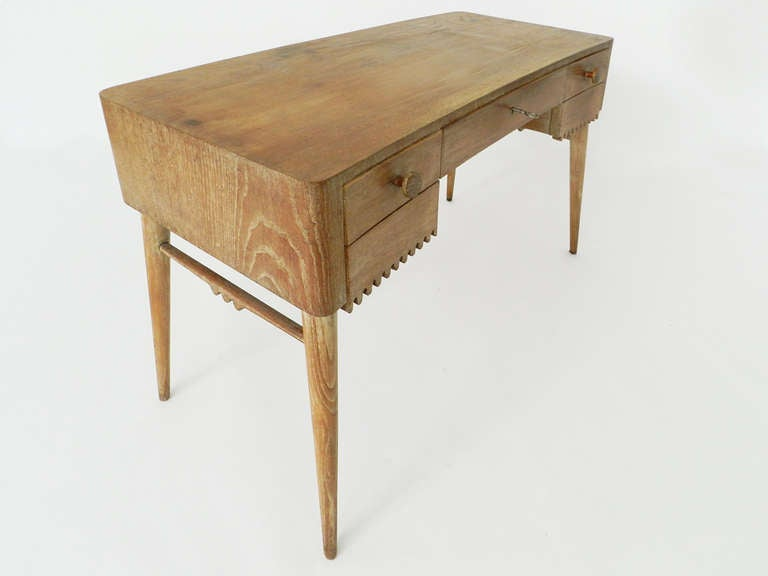 French Small Desk Attributed to Jean Royère For Sale
