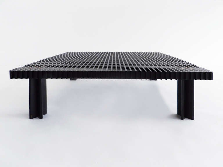 Rare Black Kyoto Coffee Table By Gianfranco Frattini For Sale At 1stdibs