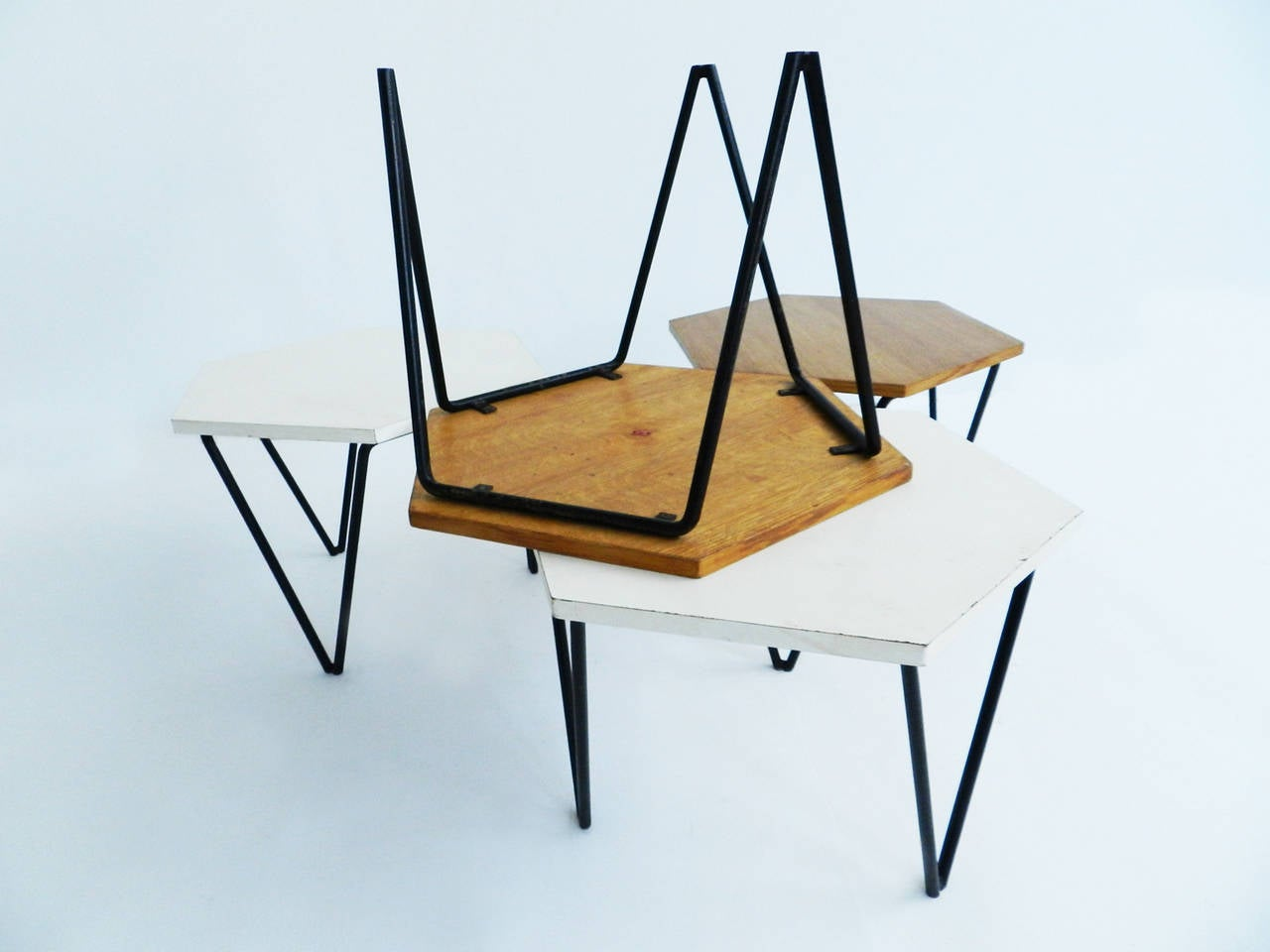 ... Gio Ponti Laminated and Wood Modular Coffee Tables for ISA at 1stdibs