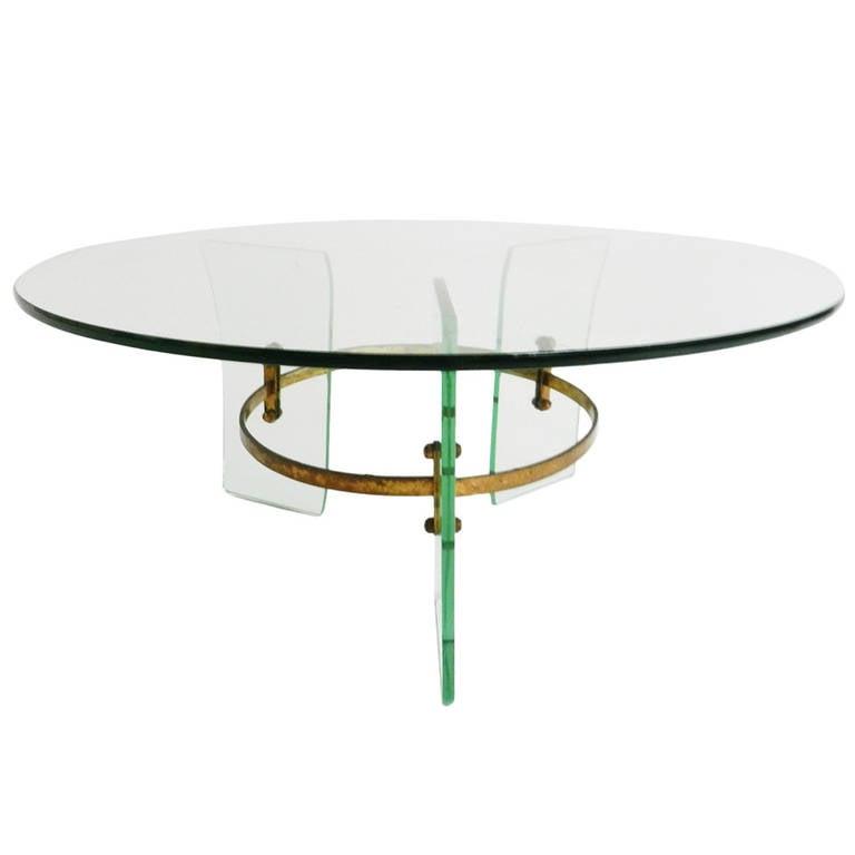 Fontana Arte Style Coffee Table Circa 1950s At 1stdibs