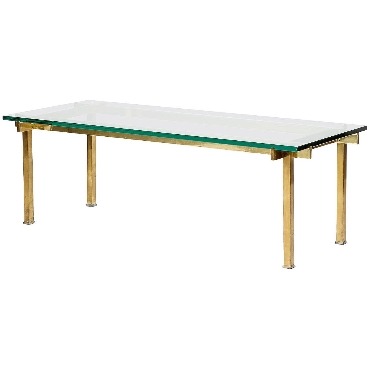 French coffee table solid brass glass high end for sale at for High end glass coffee tables