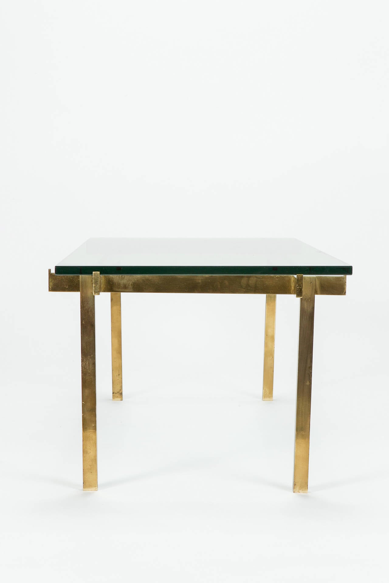 French coffee table solid brass glass high end for sale at for Coffee tables 24 high