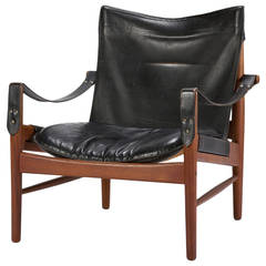 "Swedish Safari Chair ""Antilope"" by Hans Olsen, 1960s"