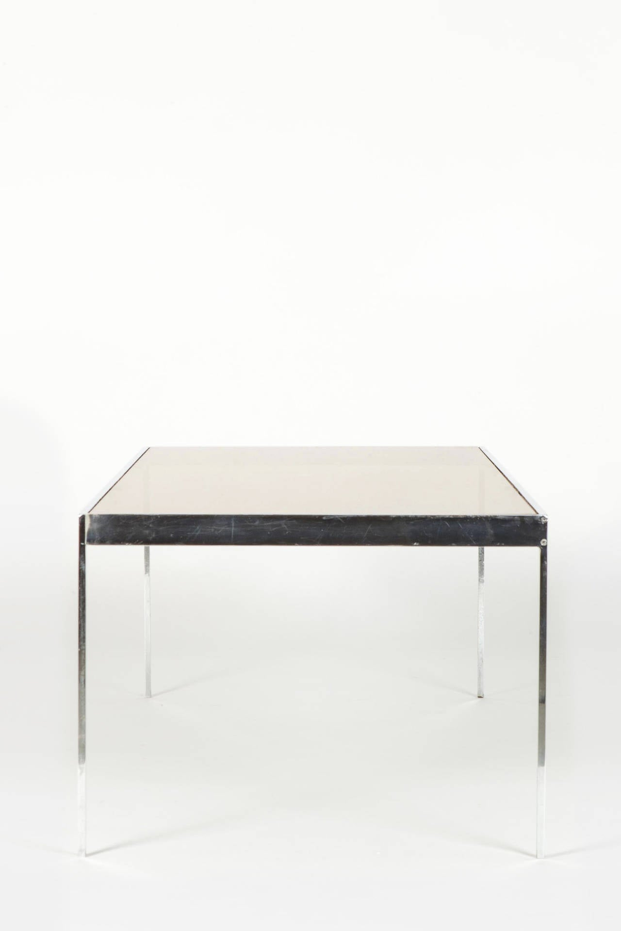 Swiss glass and chrome coffee table by dieter waeckerlin at 1stdibs swiss glass and chrome coffee table by dieter waeckerlin 3 geotapseo Gallery