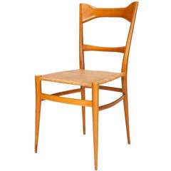 Rare Italian Chiavari Birch Chair by Emanuele Rambaldi